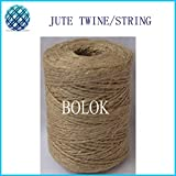 FINCOS 14pcs/lot Natural Jute Twine 2 ply Twisted (Dia.: 1.5mm 110yards/spool) DIY Jute String,Natural Fibre Twine by