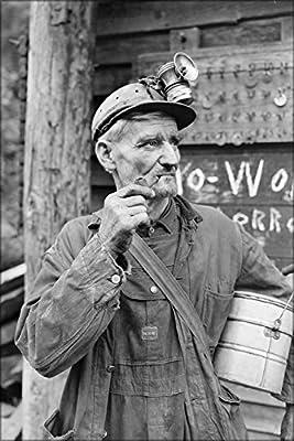 20x30 Poster; Miner. P V & K Coal Company, Clover Mine, Lejunior, Harlan County, Kentucky 1946