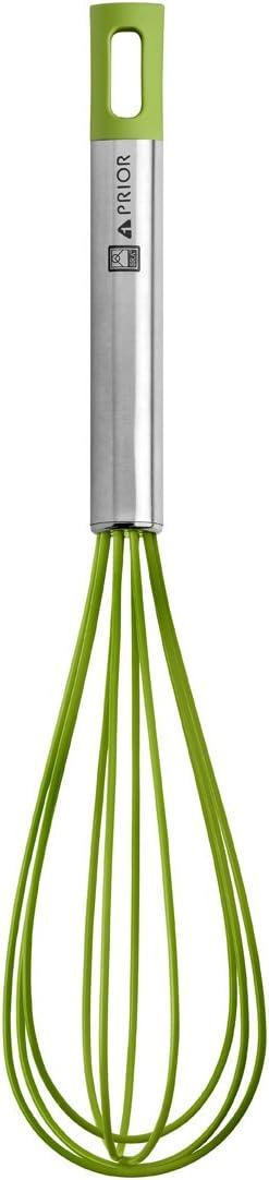 BRA Prior Batidora de Cocina Apta para el Contacto con los Alimentos, Acero INOX, Nailon y Silicona, Verde, 31 cm