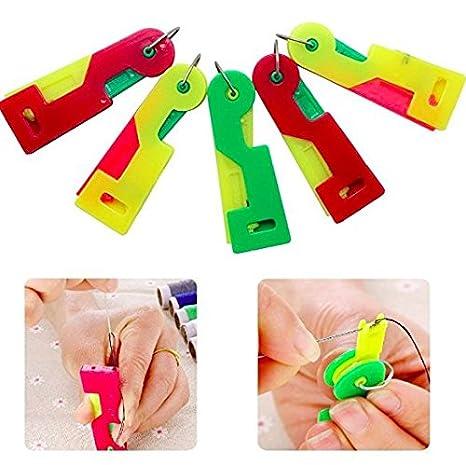 5 aguja enhebrador automático Fácil de coser Aguja dispositivo color al azar por accesorios ático ®: Amazon.es: Hogar