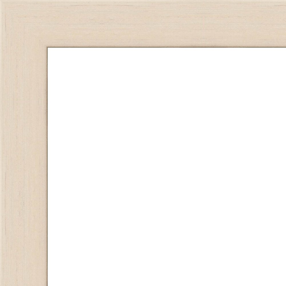 36x36 - 36 x 36 White Wash Flat Solid Wood Frame with UV Framer's Acrylic & Foam Board Backing - Great For a Photo, Poster, Painting, Document, or Mirror