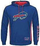 Buffalo Bills NFL Majestic Mens Passing Game IV Hoodie Royal Blue Big & Tall Sizes (6XL)