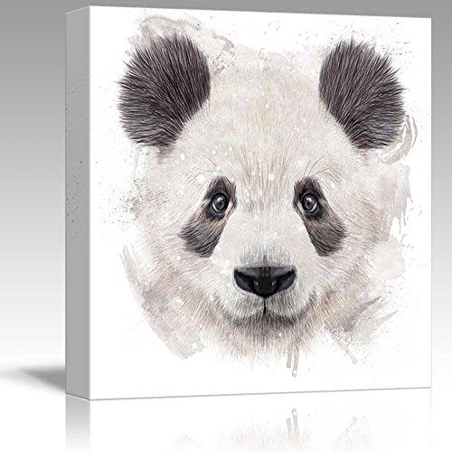 Fun and Colorful Splattered Watercolor Panda Bear