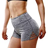 Zargan Women Elastic Waist Tights Sports Yoga Shorts Running Athletic Workout Shorts
