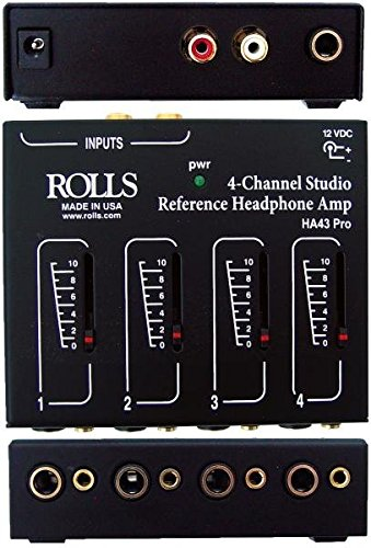 5. Rolls HA43PRO 4 CH Headphone Amp