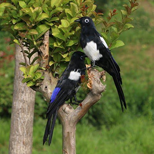 FLAMEER 鳥の置物 リアル 飾り物 オブジェ 庭 芝生 ガーデンオーナメント 小道具 人工羽根 プラスチック - オリオール立ち