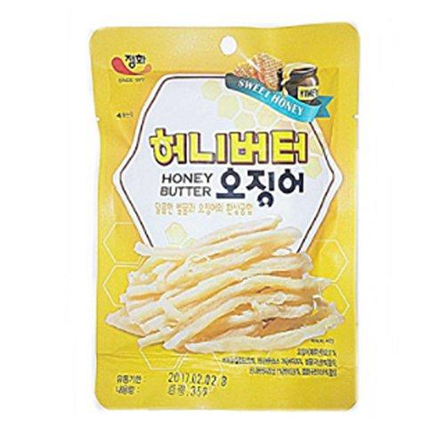 Charcoal Grilled squid 35g x 10set / Gift / Souvenir / Snack / Snack / Aji / Gift / Zip / ConveniencePurified Honey Butter Squid 1.06OZ x 10Set Sweet Squid