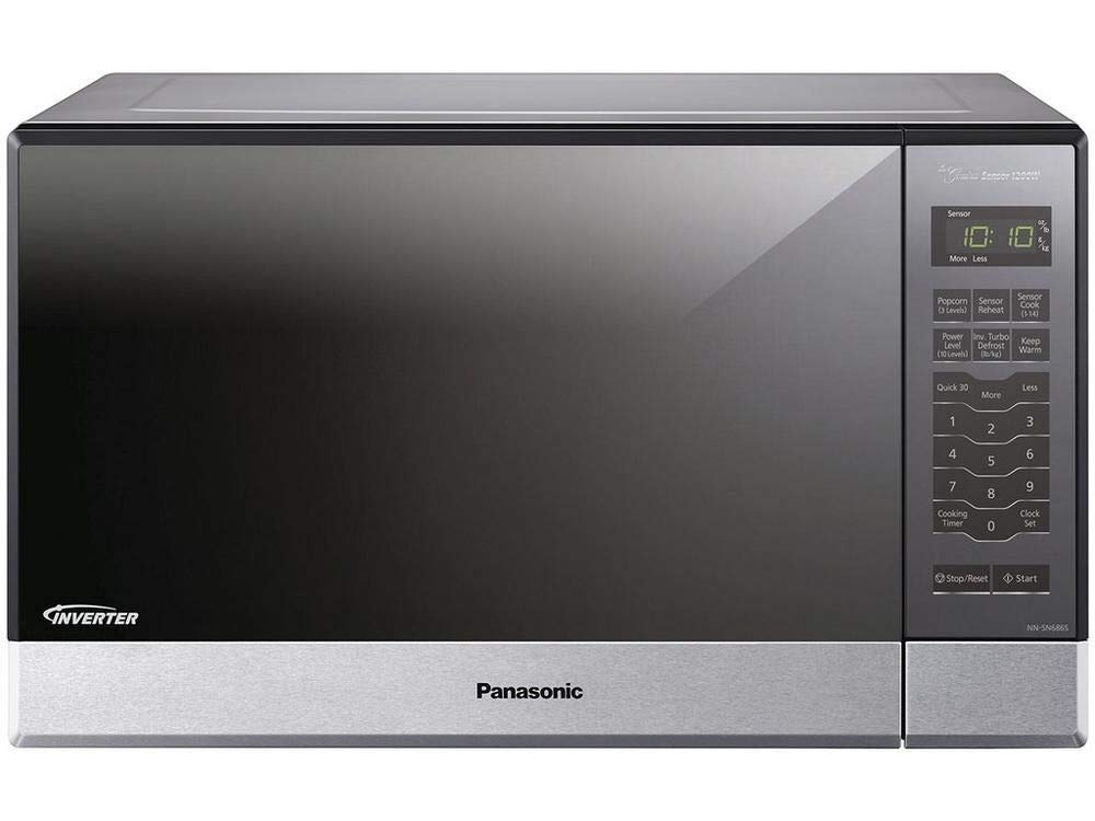 Panasonic NN-SN686SR Microwave Oven – With Inverter Technology - Stainless Steel - 1.2 Cu. Ft. 1200W (Renewed)