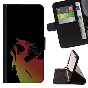 DEVIL CASE - FOR Sony Xperia Z1 Compact D5503 - Dragon Yellow Pink Flying Fairytale Drawing Art - Style PU Leather Case Wallet Flip Stand Flap Closure Cover