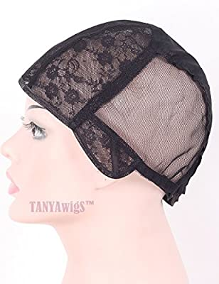 TANYAWIGS Superfine Wig Cap for Making Wigs With Adjustable Strap And Spare Combs Easy DIY Swiss Lace Perfect Fit