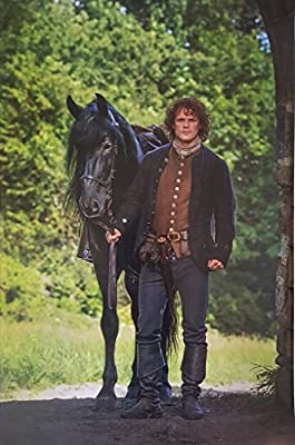 Outlander with Sam Heughan as Jaime Fraser Walking with Horse 11 x 17 Poster Litho