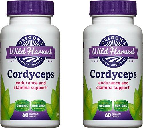 Oregon's Wild Harvest Cordyceps , 2 PAK (2 X 60 Veggie Capsules)