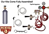 Double Tap Party Keg Kit, Taprite Regulator, Standard Commercial (Sanke) Beer Kegs, 5 lb Air Tank
