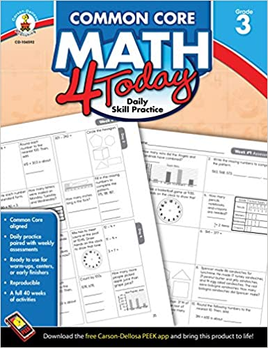 Amazon com: Common Core Math 4 Today, Grade 3: Daily Skill Practice
