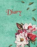 Diary: 365 Day Notebook Blank Lined Cream Colored Pages Cover Has A Vintage