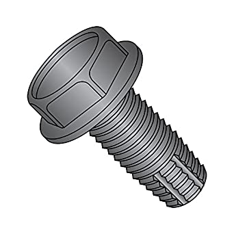 Plain Finish 18-8 Stainless Steel Thread Cutting Screw 1//4-20 Thread Size Hex Washer Head Type F Pack of 10 5//8 Length