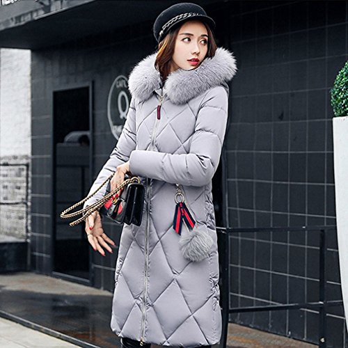 Hooded Long Thick Women Large the down Women' Winter Size 'S Section in down Jacket Grey Cotton S Jacket APUxPO
