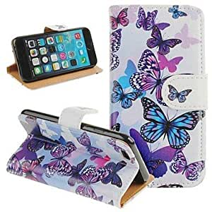 ZXSPACE Fashion Butterfly Series PU Full Body Case with Stand for iPhone 6