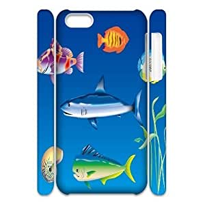LJF phone case C-Y-F-CASE DIY Design Fish Pattern Phone Case For iphone 6 4.7 inch