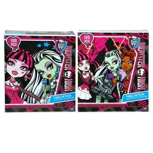 2-Pack Monster High 100-Piece Puzzles (Characters From Monster High)