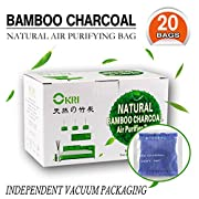 Natural Air Purifier and Diaper Pail Deodorizer Bamboo Carbon Filters/Bamboo Charcoal Filters,Shoe Deodorizer and Odor Eliminator, Set of 20 … (Blue)
