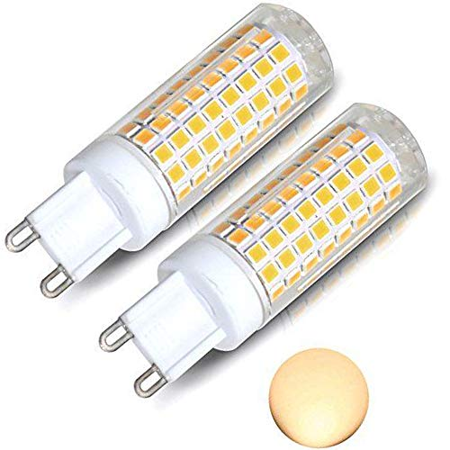 [2-Pack]G9 Led Bulb, 8W G9 Led Bulb Dimmable, Bi Pin Base(Led Bulb G9 Base), Warm White 3000k, 75W 100W Equivalent Crystal Chandelier, G9 Led Light Fixture Used for Wall Sconce Cabinet Light Etc.