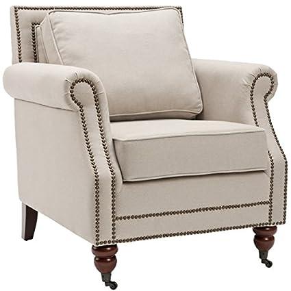 Safavieh Mercer Collection Ellen Linen Club Chair Light Grey