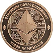 Ethereum Copper Coin - 1 oz 0.999% Pure Copper Round - Cryptocurrency Collectors Item