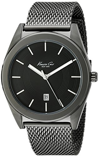 Amazon.com: Kenneth Cole New York Mens KC9371 Classic Analog Display Analog Quartz Black Watch: Watches