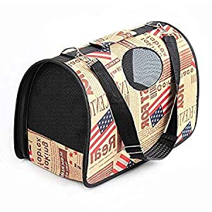 Emily Pets™ Pet Breathable Barrel Printed Bag Carrier for Travelling Hiking Camping 21.1 x 29.6 x 52.1