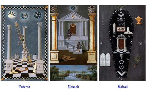 Antique Masonic Trestle Tracing Board Chart Print Reproduction Freemasonry (Reproduction Prints Antique)