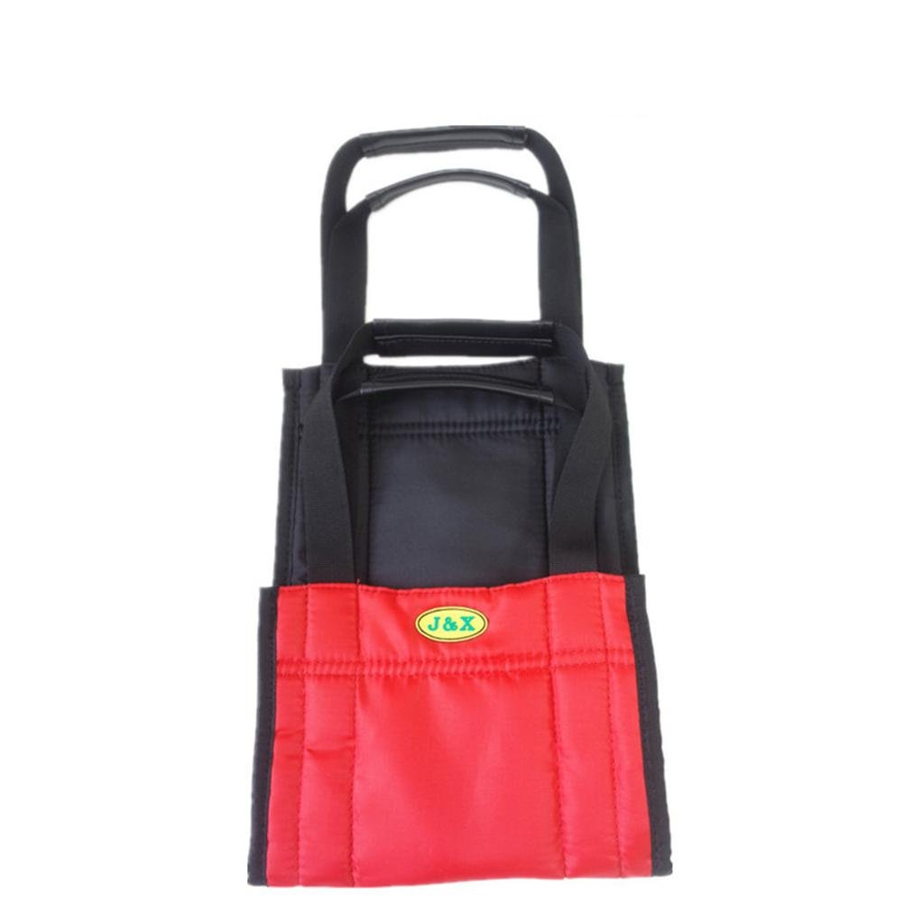 LUCKYYAN Care Shop Glide Slide Sheet Patient Mover / Get up with the Auxiliary Belt - Red and Black - 75cm x 21cm