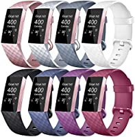 Tobfit Bands Compatible with Fitbit Charge 3, Classic Sport Wristbands Accessory Small Large Adjustable Replacement...
