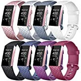 Tobfit Bands Compatible with Fitbit Charge 3 & Fitbit Charge 3 SE, Classic Sport Wristbands Accessory Small Large Adjustable Replacement Strap for Fitbit Charge 3 & Fibit Charge 3 SE Fitness Tracker