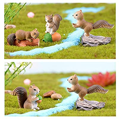 TangTanger 8 pcs Cute Squirrel Animal Characters Toys Figurines Playset, Home Garden Cake Decoration, Cake Topper: Toys & Games