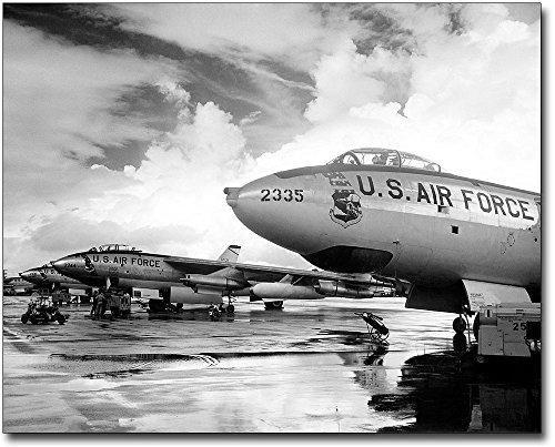 Stratojet Bomber (Boeing B-47 Stratojet Bombers Flight Line 11x14 Silver Halide Photo Print)