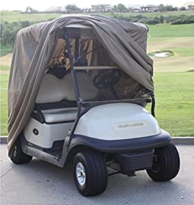 """Deluxe 2 Passenger Golf Cart Cover roof up to 58"""" (Grey, Taupe, Green, or Black), Fits E Z GO, Club Car and Yamaha G mode, also fits Organic transit's ELF from bondvast"""