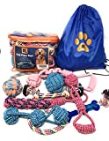 #6: Dog Rope Toys for Large Aggressive Chewers - Set of 8 Heavy Duty XXL Dog Rope Toys for Chew Medium and Large Dogs with Bonus Storage Bag