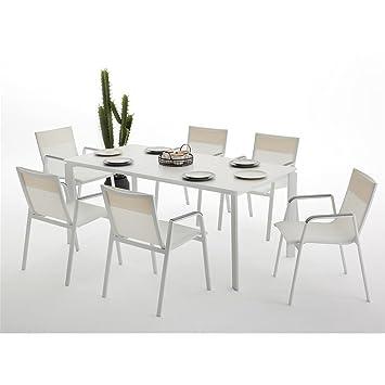 Sunset Juego de Comedor: Mesa + 6 sillones: Amazon.es: Jardín