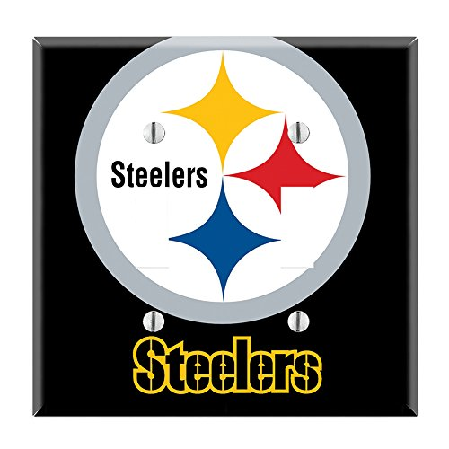 Dual Toggle Wall Switch Cover Plate Decor Wallplate - Steelers