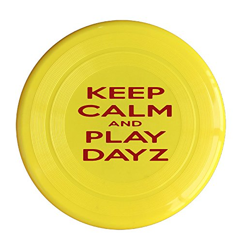 (AOLM Keep Calm And Play Game Outdoor Game Frisbee Light Up Flying Yellow)