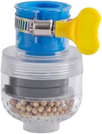 Grifo de filtro de agua para fregadero de cocina o baño, filtro de agua para purificador de agua con longitud ajustable, filtro de agua azul: Amazon.es: Hogar