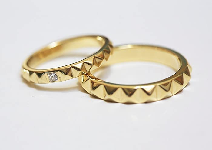Amazoncom Yellow Gold Wedding Bands Modern Wedding Ring