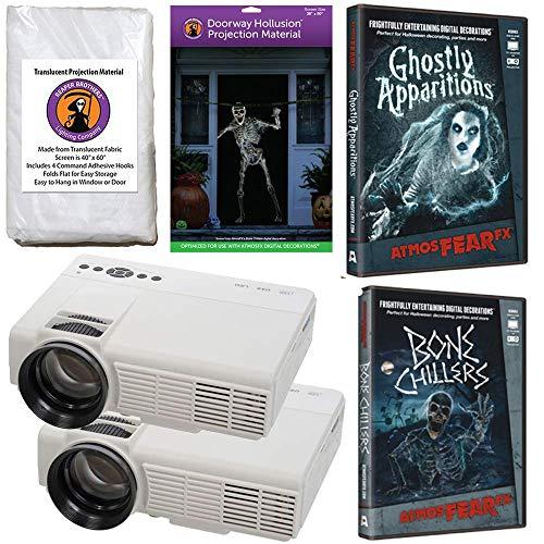 AtmosFearFx Halloween Digital Decoration Kit Includes: (Qty 2)