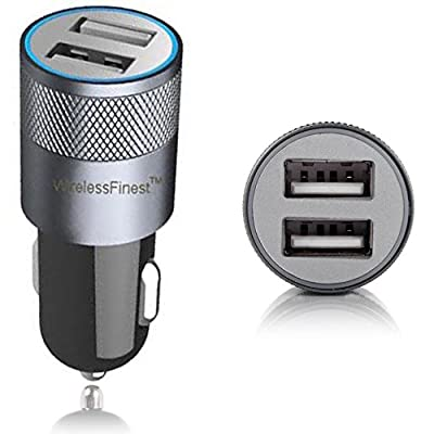 Car Charger,WirelessFinest,Dual Port 3.1A USB Car Charger Adapter for Apple iPhone 11 Pro Max X XR 8/8 Plus 7/7 Plus 6S/6S Plus 6/6 Plus 5S, Apple iPad Pro/4/3/2/Mini, iPod, Samsung Galaxy S8/S7/S6: Home Audio & Theater