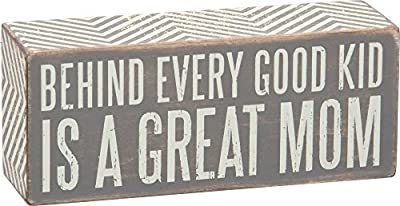"""Primitives By Kathy Gray Decorative Box Sign """"Great Mom"""""""