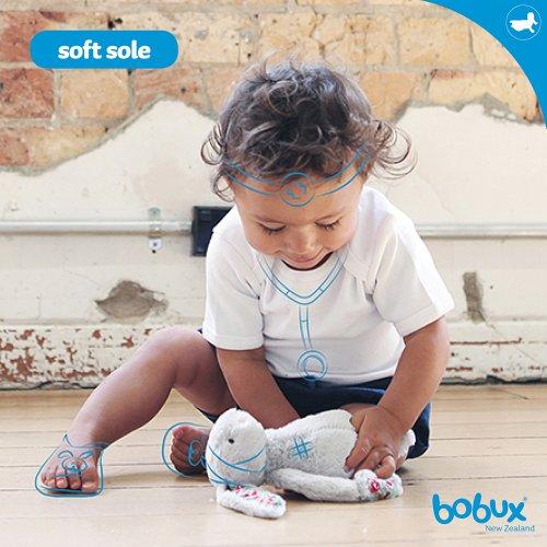 Bobux BB 4234 - Zapatos de bebé con lazo blanco Talla:M