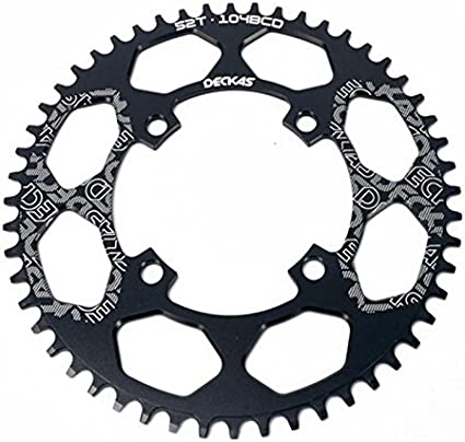 Bike Single Chainring 104mm BCD 44//46//48//50//52T Compatible 8//9//10//11//12 Speed