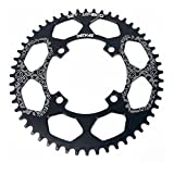 LOLTRA Bicycle Chainring 104BCD Crank Round 40T 42T 44T 46T 48T 50T 52T XT Chainwheel Narrow Wide MTB Bike Chainring (Black, 50T)