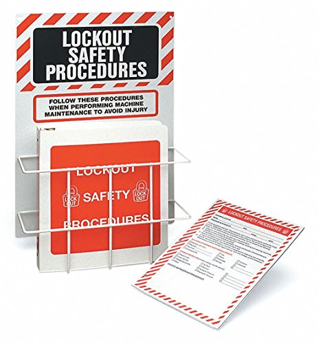 Procedure Station - Brady LOSP22, 45635 Lockout Procedure Station With Binder and 25 Forms